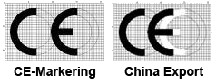 CE-Markering versus China Export